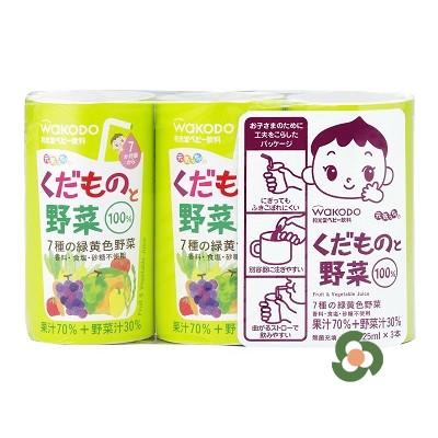 和光堂 水果蔬菜汁125mL×3瓶(7個月以上)