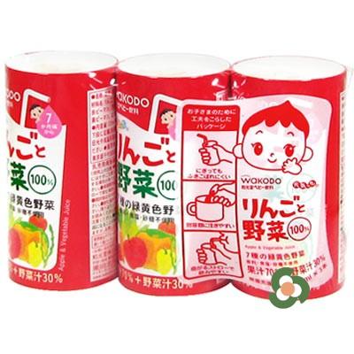和光堂 蘋果蔬菜汁125mL×3瓶(7個月以上)