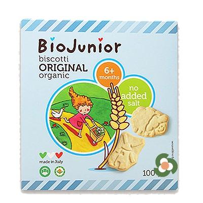 義大利BioJunior寶寶趣味餅乾原味100g(7個月以上)