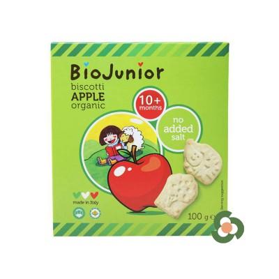 義大利BioJunior寶寶趣味餅乾蘋果味100g(10個月以上)