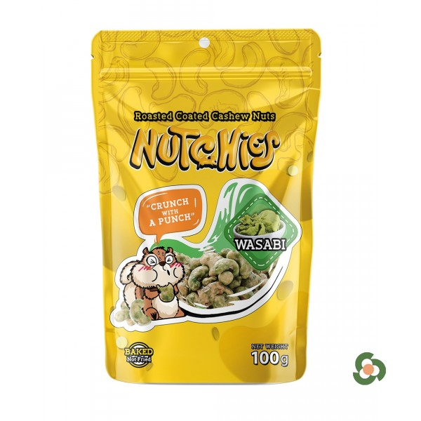 Nutchies 樂脆腰果-日式芥末風味100g
