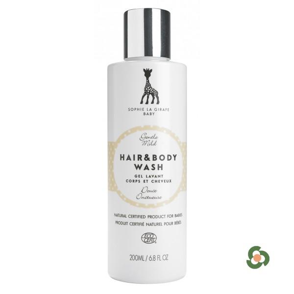法國蘇菲長頸鹿  天然有機嬰兒柔護洗髮沐浴露 200ml
