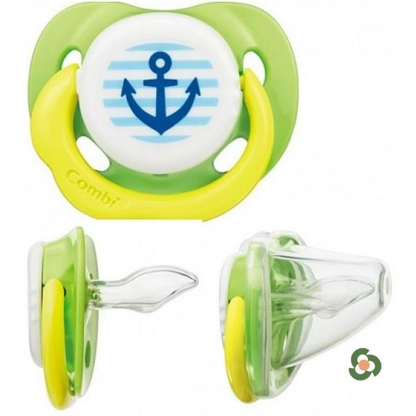 Combi 康貝teteo入眠安撫奶嘴 帶收納盒M號(海洋綠色)