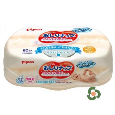 Pigeon 清爽濕紙巾盒裝(80片入)