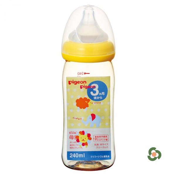 Pigeon PPSU闊口奶瓶240ml (動物款)