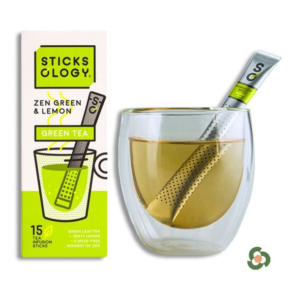 檸檬味綠茶茶棒15枝裝